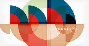 Minimal circle abstract background design, multicolored template for business or technology presentation or web brochure. Cover layout, wallpaper. Vector Royalty Free Stock Photos
