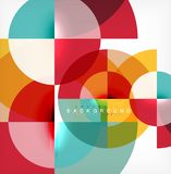 Minimal circle abstract background design, multicolored template for business or technology presentation or web brochure. Cover layout, wallpaper. Vector vector illustration