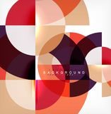 Minimal circle abstract background design, multicolored template for business or technology presentation or web brochure. Cover layout, wallpaper. Vector Stock Image