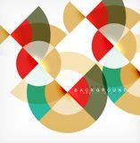 Minimal circle abstract background design, multicolored template for business or technology presentation or web brochure. Cover layout, wallpaper. Vector stock illustration