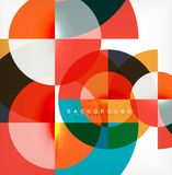 Minimal circle abstract background design, multicolored template for business or technology presentation or web brochure. Cover layout, wallpaper. Vector Stock Photography