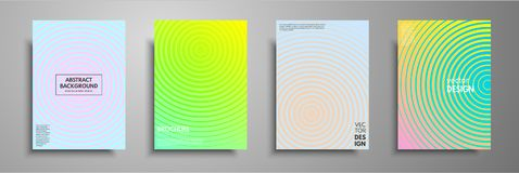 Minimal colorful cover template set. Abstract design template for brochures, flyers, banners, headers, book covers, notebooks, cat. Alog and annual Stock Photography