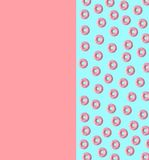 Minimal colorful donuts, abstract art. Minimal colorful small donuts on a flat lay, funky illustration Royalty Free Stock Images