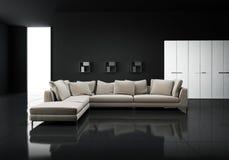 Minimal contemporary elegant living room stock photos