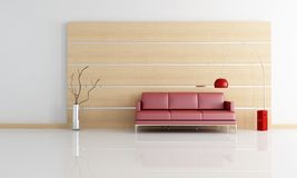 Minimal contemporary living room Royalty Free Stock Photography