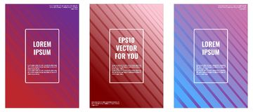Minimal covers design for A4 Formats. EPS10 Vector royalty free illustration