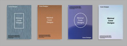 Minimal covers design. Cool halftone gradients. Future geometric template. Eps10 vector. Stock Images