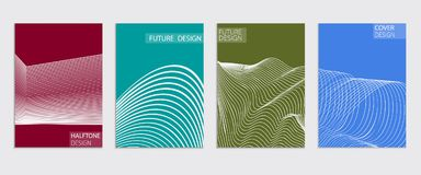Minimal covers design. Cool halftone gradients. Future Poster template. Stock Photography