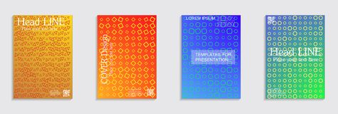 Minimal covers design. Cool halftone gradients. Vector journal design geometric shape background set. Vector journal design geometric shape background set royalty free illustration