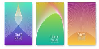 Minimal covers design. Future geometric patterns also useful for your app for smartphones. Illustrated vector Stock Images