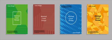 Minimal covers design. Geometric halftone gradients. Eps10 vector. Royalty Free Stock Photo