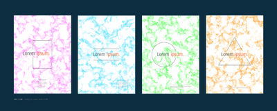 Minimal covers design set, Abstract colorful modern background, Trendy template inspiration for your design Stock Images