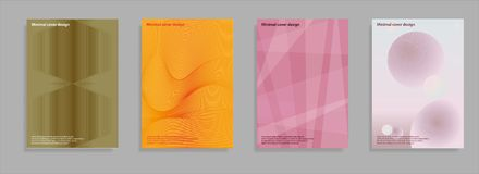 Minimal covers set. Future geometric design. Abstract 3d meshes. Eps10 vector. Minimal covers set. Future geometric design. Abstract 3d meshes. Eps10 vector royalty free illustration