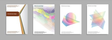 Minimal covers set. Future geometric design. Abstract 3d meshes. Eps10 vector. Royalty Free Stock Images