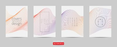 Minimal covers set. Poster template geometric design. Abstract  Backgroung Eps10.  Royalty Free Stock Photography
