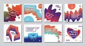 Minimal Editorial Vector covers design. Future Poster template. Royalty Free Stock Photography