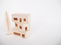 Minimal fait main de coupe de métier modèle en bois miniature d'illustration Photographie stock