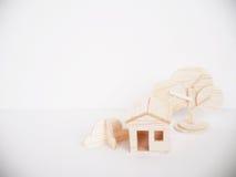 Minimal fait main de coupe de métier modèle en bois miniature d'illustration Photo libre de droits
