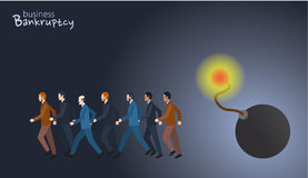 Minimal flat character of business bankruptcy concept illustrations Stock Photos