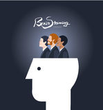 Minimal flat character of business brain storming concept illustrations Royalty Free Stock Image