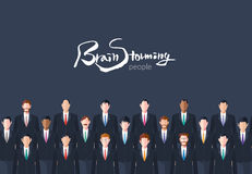 Minimal flat character of business brainstorming concept illustrations Royalty Free Stock Photography