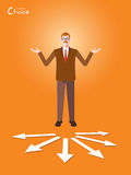 Minimal flat character of business choice concept illustrations Stock Photography