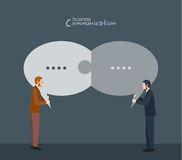 Minimal flat character of business communication concept illustrations Stock Photos