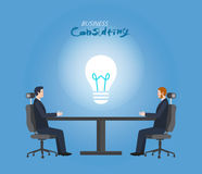 Minimal flat character of business consulting concept illustrations. Vector Stock Photo