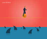 Minimal flat character of business crisis people concept illustrations Stock Photo