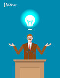 Minimal flat character of business discover concept illustrations Stock Images