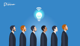Minimal flat character of business discover idea idea concept illustrations Stock Images