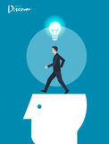 Minimal flat character of business funding concept illustrations Royalty Free Stock Photography