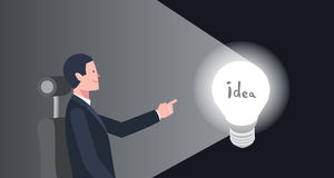 Minimal flat character of business idea concept illustrations Stock Image