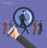 Minimal flat character of business marketing concept illustrations Stock Photography