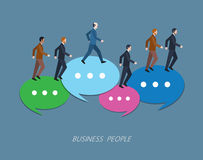 Minimal flat character of business people concept illustrations Royalty Free Stock Photo