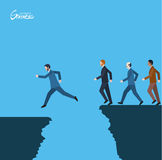 Minimal flat character of business success concept illustrations Royalty Free Stock Image