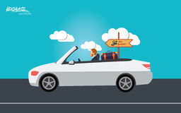 Minimal flat character of business vacation concept illustrations Royalty Free Stock Images
