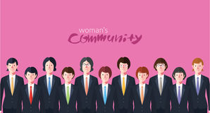 Minimal flat character of business woman concept illustrations Stock Photo