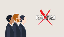Minimal flat character of racism concept illustrations Royalty Free Stock Photo