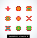Minimal flat geometric business symbols. Icon set Stock Photo