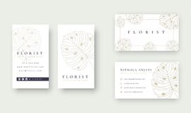 Minimal Floral logo with business card template