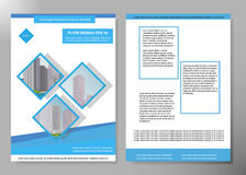 Minimal flyers report business magazine poster layout portfolio template.Brochure design template vector.Square layout Stock Image