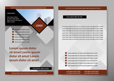 Minimal flyers report business magazine poster layout portfolio template.Brochure design template vector.Square layout Royalty Free Stock Images