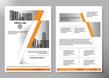 Minimal flyers report business magazine poster layout portfolio template. Brochure design template vector. Square layout in cover Royalty Free Stock Image