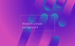 Minimal geometric background with colorful gradient shapes vector illustration