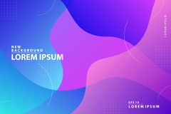 New Background. Colorful geometric background. Fluid shapes composition. Eps10 vector. 2019 royalty free illustration