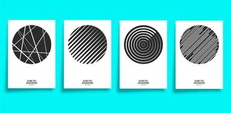 Minimal geometric cover template set. Vector illustration Stock Photography