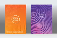 Minimal geometric cover. Royalty Free Stock Images