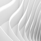 Minimal Geometric Shapes. Abstract Architecture Background. White Wave Wallpaper. 3d Rendering of Minimal Geometric Shapes Stock Images