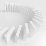 Minimal Geometric Shapes. Abstract Architecture Background. White Wave Wallpaper. 3d Rendering of Minimal Geometric Shapes Stock Photos